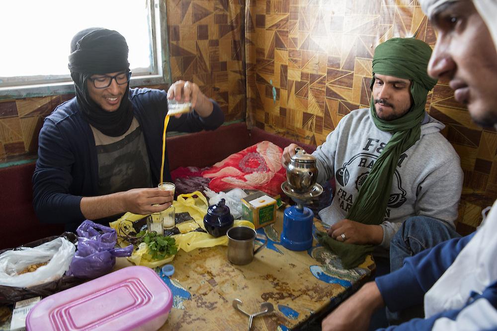 Omar, afgan refugee, inside his room from Breitenworbis asylum camp; Germany, April 2015.