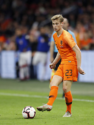 Frenkie de Jong of Holland during the International friendly match match between The Netherlands and Peru at the Johan Cruijff Arena on September 06, 2018 in Amsterdam, The Netherlands