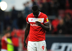 Famara Diedhiou of Bristol City shows a look of dejection at the final whistle  - Mandatory by-line: Nizaam Jones/JMP - 09/03/2019 - FOOTBALL - Ashton Gate Stadium - Bristol, England - Bristol City v Leeds United - Sky Bet Championship