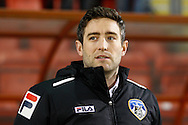 Lee Johnson , Manager , of Oldham Athletic before the Sky Bet League 1 match at the Matchroom Stadium, London<br /> Picture by David Horn/Focus Images Ltd +44 7545 970036<br /> 25/03/2014
