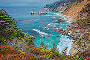 A picturesque cove on the Big Sur coast of California