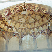 25 November 1976<br /> Kabul. Complete Honeycomb decoration on interior of dome over door.
