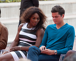 02/05/2013. Caja Magica. Madrid. Spain. Presentation of the Mutua Madrid Open tournament. At the ceremony were Rafael Nadal, Feliciano Lopez, Fernando Verdasco, Serena Williams and Victoria Azarenka. (C) Belen D. / DyD Fotografos