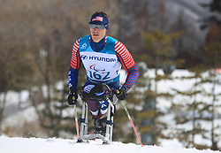 USA's Bryan Price competes in the Men's 7.5km, Sitting Cross Country Skiing, at the Alpensia Biathlon Centre during day eight of the PyeongChang 2018 Winter Paralympics in South Korea