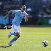 NEW YORK, NEW YORK - May 29:  David Villa #7 of New York City FC in action during the New York City FC Vs Orlando City, MSL regular season football match at Yankee Stadium, The Bronx, May 29, 2016 in New York City. (Photo by Tim Clayton/Corbis via Getty Images)