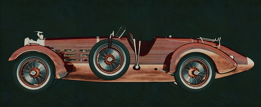 The Hispano Suiza H6 Tulipwood from 1924 is only known to a small group of enthusiasts but radiates so much exclusivity that your own interior with this painting of the Hispano Suiza H6 Tulipwood from 1924 gets an upgrade.<br />