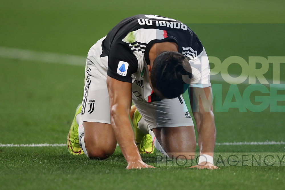 Juventus's Portuguese striker Cristiano Ronaldo reacts during the Serie A match at Allianz Stadium, Turin. Picture date: 26th June 2020. Picture credit should read: Jonathan Moscrop/Sportimage