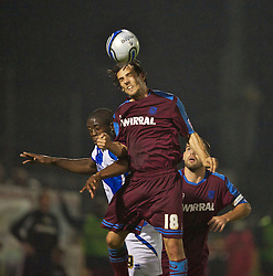 BRISTOL, ENGLAND - Tuesday, September 28, 2010: Tranmere Rovers' Maximo Blanchard in action against Bristol Rovers during the Football League One match at the Memorial Ground. (Photo by David Rawcliffe/Propaganda)