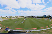 General view of Bay Oval ahead of the McDonalds Super Smash T20 cricket match - Knights v Aces played at Bay Oval, Mount Maunganui, New Zealand on Tuesday 27 December 2016.<br /> <br /> Copyright photo: Bruce Lim / www.photosport.nz
