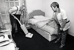 Carer & elderly man, Nottingham UK 1989