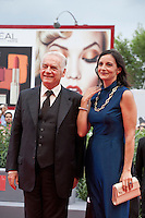 Actor Giorgio Colangeli and actress Corinna Lo Castro, at the gala screening for the film L'attesa at the 72nd Venice Film Festival, Saturday September 5th 2015, Venice Lido, Italy.