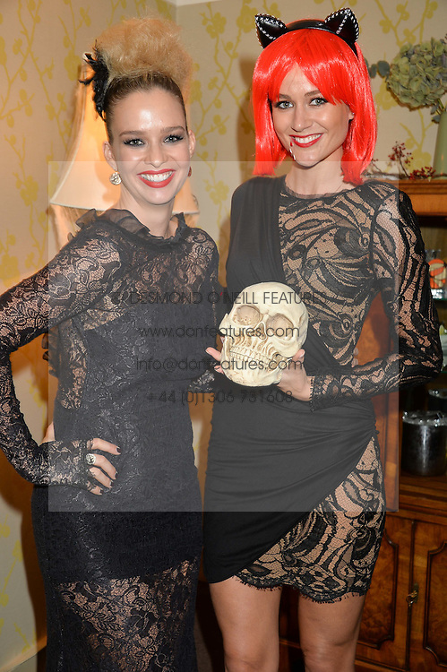 Left to right, MARISSA HERMER and KIM JOHNSON at the Bumpkin Halloween Dinner hosted by Marissa Hermer held at Bumpkin, 119 Sydney Street, London on 23rd October 2014.