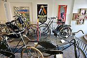 Nederland, Nijmegen, 31-7-2014Museum, fietsmuseum Velorama aan de Waalkade. Het herbergt de complete geschiedenis van de fiets, van velocipede en bi tot moderne racefiets. de fietsen van koningin Wilhelmina en juliana staan hier, evenals de verwrongen racefiets van wielrenner Wim van Est nadat hij van de Aubisque viel tijdens de Tour de France.FOTO: FLIP FRANSSEN/ HOLLANDSE HOOGTE