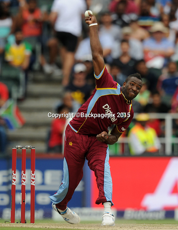 Andre Russell of the West Indies during the 2015 KFC T20 International Series match between South Africa and West Indies at Wanderers, Johannesburg on the 11 January 2015  ©Muzi Ntombela/BackpagePix