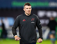 Peter O'Mahony of Munster  during the pre match warm up<br /> <br /> Photographer Simon King/Replay Images<br /> <br /> European Rugby Champions Cup Round 1 - Ospreys v Munster - Saturday 16th November 2019 - Liberty Stadium - Swansea<br /> <br /> World Copyright © Replay Images . All rights reserved. info@replayimages.co.uk - http://replayimages.co.uk