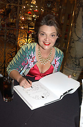 LULU GUINNESS at a party to celebrate the publication of  'Put On Your Pearl Girls!' by Lulu Guinness held at the V&A museum, London on 5th May 2005.<br /><br />NON EXCLUSIVE - WORLD RIGHTS