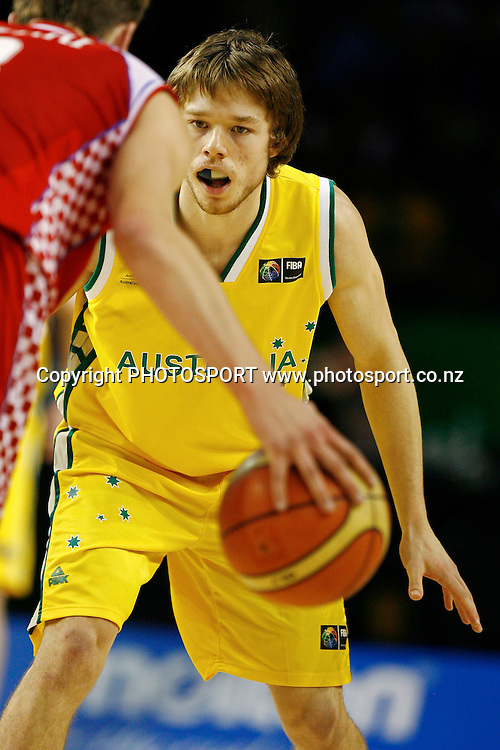 Australia's Matthew Dellavedova in action. U19 Basketball World Championship, 3rd and 4th place game, Australia v Croatia, North Shore Events Centre, Auckland. 12 July 2009. Photo: Anthony Au-Yeung/PHOTOSPORT