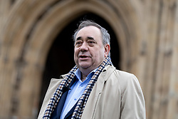 © Licensed to London News Pictures. 18/12/2018. London, UK. Former First Minister of Scotland Alex Salmond speaks to media in College Green, Westminster. Photo credit : Tom Nicholson/LNP