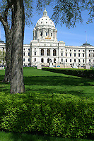 Minnesota state capital and grounds in St. Paul.