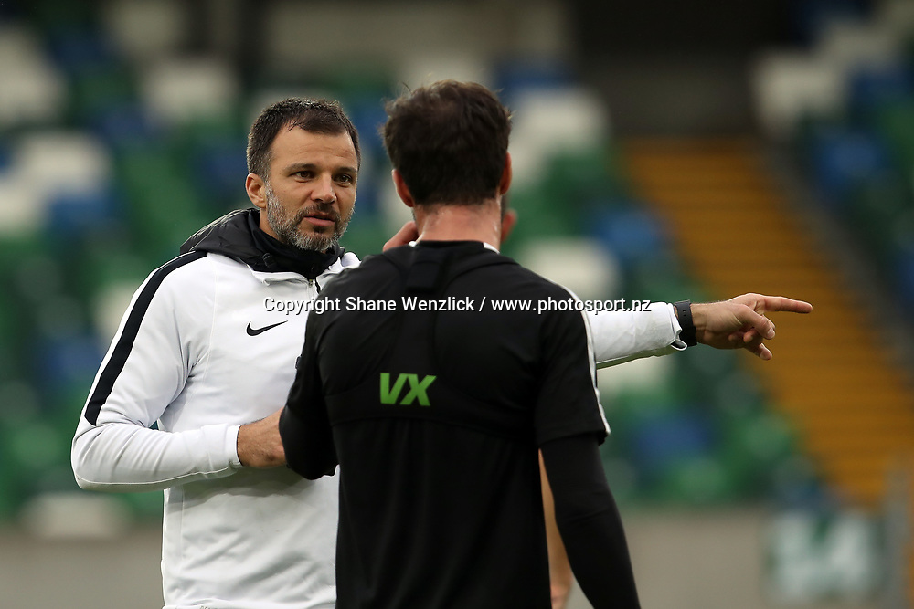 Coach Anthony Hudson. All Whites training, Windsor Park, Belfast, Northern Ireland, Monday 29th May 2017. Photo: Shane Wenzlick / www.photosport.nz