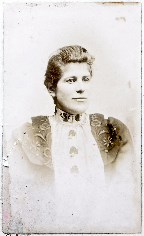 vintage deteriorating portrait of an woman