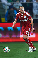 Wisla's Dariusz Dudka controls the ball during T-Mobile ExtraLeague soccer match between Legia Warsaw and Wisla Krakow in Warsaw, Poland.<br /> <br /> Poland, Warsaw, March 15, 2015<br /> <br /> Picture also available in RAW (NEF) or TIFF format on special request.<br /> <br /> For editorial use only. Any commercial or promotional use requires permission.<br /> <br /> Mandatory credit:<br /> Photo by © Adam Nurkiewicz / Mediasport