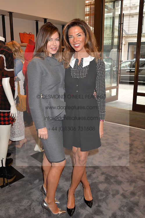 Left to right, KATRINA FORNICHEVE and HEATHER KERZNER at a lunch hosted by Alice Naylor-Leyland and Tamara Beckwith in celebration of the Coach 2015 collection held at Coach, New Bond Street, London on 18th September 2014.