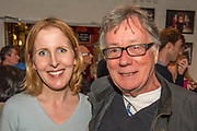 Fenella Woolgar with Jeff Rawle both palyed together in Hanbagged - Press night party for A Lie of the Mind by Sam Shepard a new production by Defibrillator at the Southwark Playhouse, London.