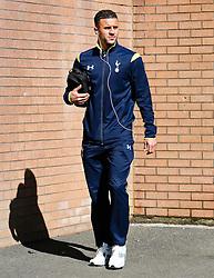 Tottenham's Kyle Walker arrives at Turf Moor - Photo mandatory by-line: Matt McNulty/JMP - Mobile: 07966 386802 - 05/04/2015 - SPORT - Football - Burnley - Turf Moor - Burnley v Tottenham Hotspur - Barclays Premier League