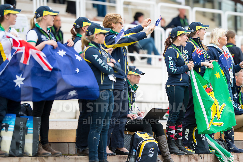 Supporter AUS - Individual Test Grade Ib Para Dressage - Alltech FEI World Equestrian Games&trade; 2014 - Normandy, France.<br /> &copy; Hippo Foto Team - Jon Stroud <br /> 25/06/14