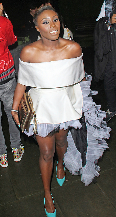 © Licensed to London News Pictures. 19/02/2014, UK. Laura Mvula, The BRIT Awards 2014 - Warner Music After Party, The Savoy, London UK. Photo credit : Brett D. Cove/Piqtured/LNP