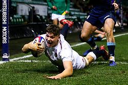 Aaron Hinkley of England U20 scores a try - Mandatory by-line: Robbie Stephenson/JMP - 15/03/2019 - RUGBY - Franklin's Gardens - Northampton, England - England U20 v Scotland U20 - Six Nations U20