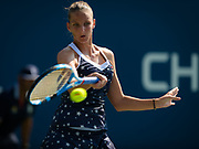 Karolina Pliskova of the Czech Republic in action during her second-round match at the 2018 US Open Grand Slam tennis tournament, at Billie Jean King National Tennis Center in Flushing Meadow, New York, USA, August 29th 2018, Photo Rob Prange / SpainProSportsImages / DPPI / ProSportsImages / DPPI