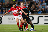 FOOTBALL - CHAMPIONS LEAGUE 2010/2011 - GROUP STAGE - GROUP F - OLYMPIQUE MARSEILLE v SPARTAK MOSCOW - 15/09/2010 - PHOTO PHILIPPE LAURENSON / DPPI - TAYE TAIWO (OM) / ALEX RAFAEL MESCHINI (MOS)