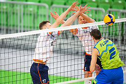 30-12-2019 SLO: Slovenia - Netherlands, Ljubljana<br /> Thijs Ter Horst of the Netherlands and Alen Pajenk of Slovenia during friendly volleyball match between National Men teams of Slovenia and Netherlands