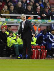 Stoke City Manager, Mark Hughes - Photo mandatory by-line: Joe Meredith/JMP - Tel: Mobile: 07966 386802 07/12/2013 - SPORT - Football - Stoke-On-Trent - Britannia Stadium - Stoke City v Chelsea - Barclays Premier League