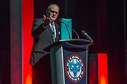KELOWNA, CANADA - MARCH 19:  Bill Barnes MC at the Kelowna Rockets Awards Ceremony on March 19, 2017 at the Kelowna Community Theater in Kelowna, British Columbia, Canada.  (Photo By Cindy Rogers/Nyasa Photography,  *** Local Caption ***