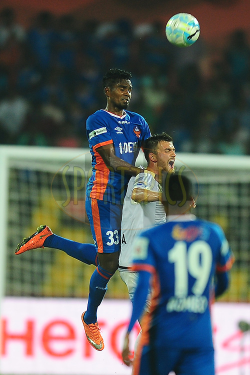 Sanjay Balmuchu of FC Goa during match 8 of the Indian Super League (ISL) season 3 between FC Goa and FC Pune City held at the Fatorda Stadium in Goa, India on the 8th October 2016.<br /> <br /> Photo by Faheem Hussain / ISL/ SPORTZPICS