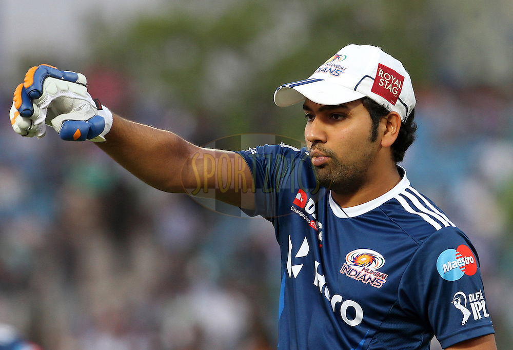 Mumbai Indian player Rohit Sharma before the match 72 of the Indian Premier League ( IPL) 2012  between The Rajasthan Royals and the Mumbai Indians  held at the Sawai Mansingh Stadium in Jaipur on the 20th May2012..Photo by Vipin Pawar/IPL/SPORTZPICS