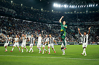 Juventus players celebrate at the end of the match <br /> Torino 29-09-2018 Allianz Stadium Football Calcio Serie A 2018/2019 Juventus - Napoli <br /> Foto Cesare Purini / Insidefoto