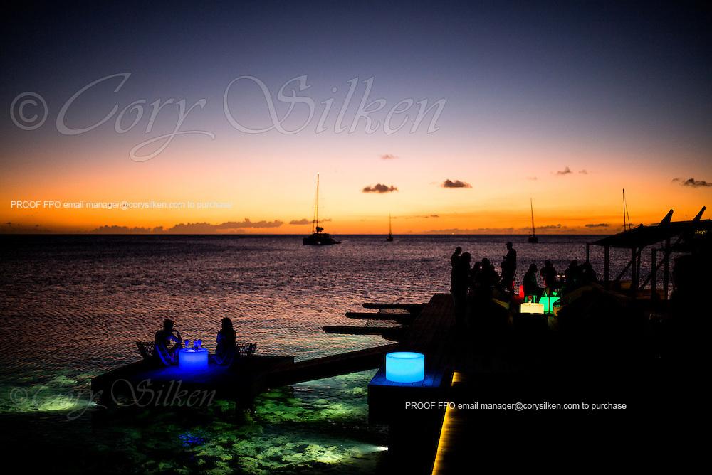 Sunset at Salt Plage at Christophe Harbour.