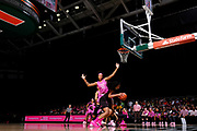 February 11, 2018: Ama Degbeon #25 of Florida State defends Erykah Davenport #30 of Miami during the NCAA basketball game between the Miami Hurricanes and the Florida State Seminoles in Coral Gables, Florida. The Seminoles defeated the 'Canes 91-71.