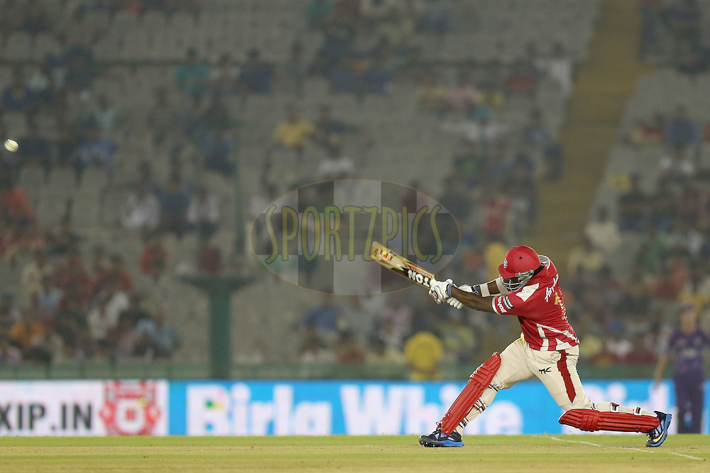 Thisara Perera during match 2 of the Oppo Champions League Twenty20 between the Kings XI Punjab and the Hobart Hurricanes held at the Punjab Cricket Association Stadium, Mohali, India on the 18th September 2014. Photo by:  Jacques Rossouw / Sportzpics/ CLT20<br /> <br /> <br /> Image use is subject to the terms and conditions as laid out by the BCCI/ CLT20.  The terms and conditions can be downloaded here:<br /> <br /> http://sportzpics.photoshelter.com/gallery/CLT20-Image-Terms-and-Conditions-2014/G0000IfNJn535VPU/C0000QhhKadWcjYs