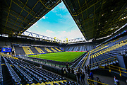 General view inside Signal Iduna Park stadium ahead of the Champions League round of 16, leg 2 of 2 match between Borussia Dortmund and Tottenham Hotspur at Signal Iduna Park, Dortmund, Germany on 5 March 2019.