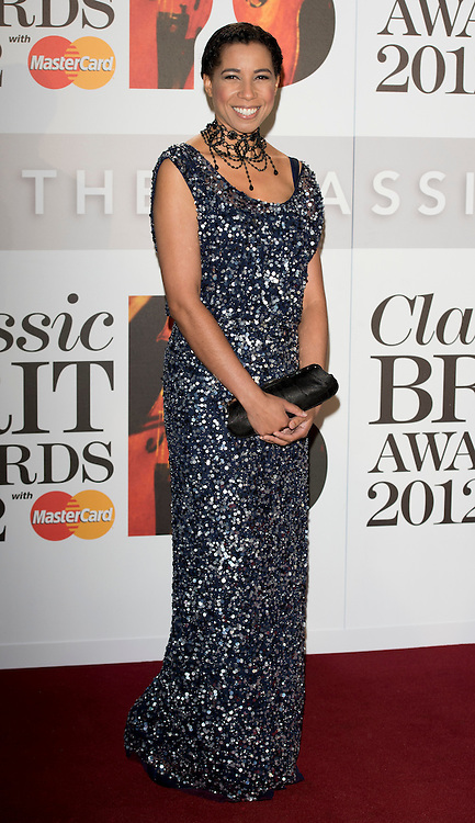 Margherita Taylor arriving at the 2012 Classic Brit Awards at the Royal Albert Hall in London.