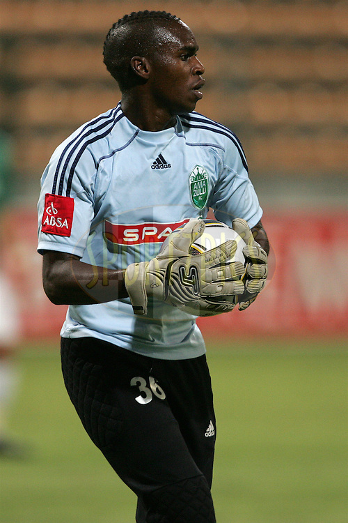 Mbongeni Mzimela GK during the Absa Premiership , PSL, match between Santos and Amazulu held at Athlone Stadium in Athlone, Cape Town, South Africa on the 24 February 2010.Photo by: sportzpics.net