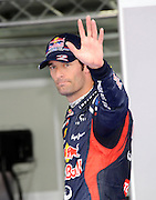 13.10.2012. Yeongman, South Korea.  Formula 1 GP Korea in Yeongam  Mark Webber Red Bull Racing  Mark Webber qualified on pole with Sebastien Vettel second and Lewis Hamilton third on the grid.