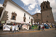 Demonstration at Plaza de Armas  Cusco, Peru