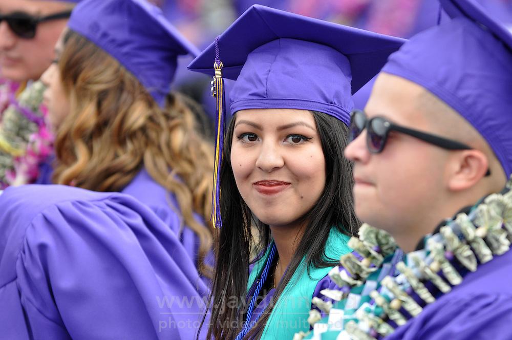 Rocio Tafoya waits for her hard-earned diploma at the 2016 Salinas High School Graduation on May 26th.