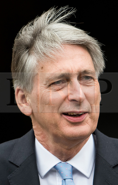 © Licensed to London News Pictures. 04/10/2017. Manchester, UK. Chancellor PHILIP HAMMOND seen on the final day of the Conservative Party Conference. The four day event is expected to focus heavily on Brexit, with the British prime minister hoping to dampen rumours of a leadership challenge. Photo credit: Ben Cawthra/LNP